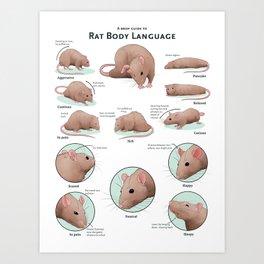 Rat Body Language Art Print
