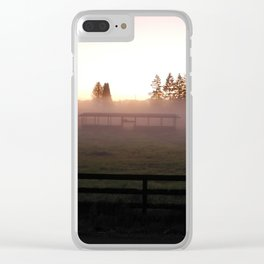 Stables in Fog Clear iPhone Case