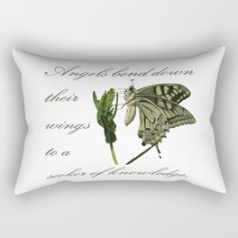 Angels Bend Down Their Wings To A Seeker Of Knowledge Rectangular Pillow