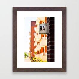 Apartment 9A Framed Art Print