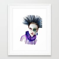 clown Framed Art Prints featuring Clown by Andreea Maria Has