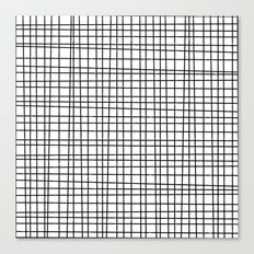 Hand drawn Grit Pattern-Black on White-Mix & Match with Simplicity  of life Canvas Print