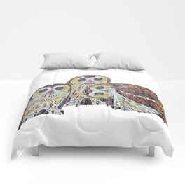 Three Owls - Art Nouveau Inspired by Klimt Comforters