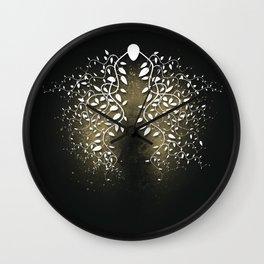 Breath ! (V II - Gold) Wall Clock