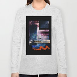 Space Print Long Sleeve T-shirt
