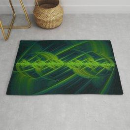 Cross Hatch - Green - Fractal - Manafold Art Rug