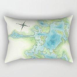 Go Home Lake - Nature Map Rectangular Pillow