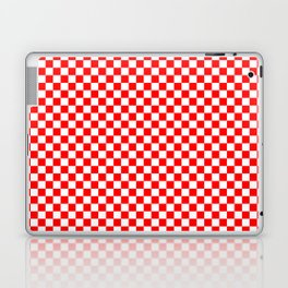 Large Australian Flag Red and White Check Checkerboard Laptop & iPad Skin