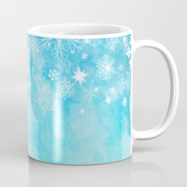 Watercolor winter with snowflakes, sparkle. #christmas #blue Coffee Mug