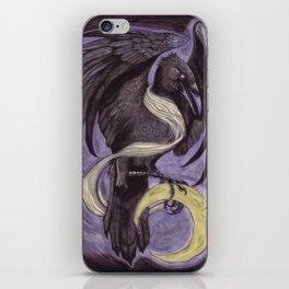 Moon Raven iPhone Skin