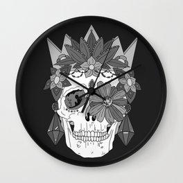 Greytone Sugar Skull Wall Clock