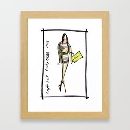 Graphic Suit -- Lucky FABB Framed Art Print