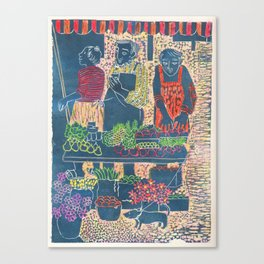 Farmers Market, color, 2007 Canvas Print