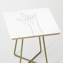 Love Hand Gesture Side Table