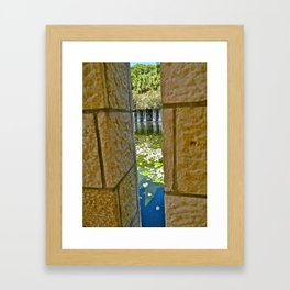 Through the Crack Framed Art Print