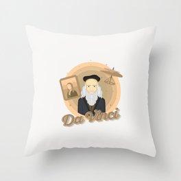 Smart Scientists - Da Vinci Throw Pillow