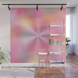 Pink Starburst Pattern Wall Mural