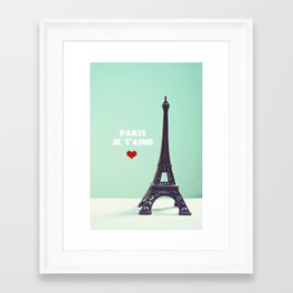 Paris Je T'aime Framed Art Print