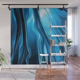 Streaming Deep Blues Wall Mural