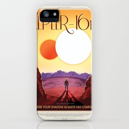 Kepler-16b - NASA Space Travel Poster iPhone Case