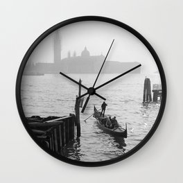 fog in venice Wall Clock