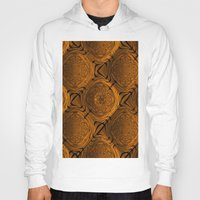 orange pattern Hoodies featuring Power Pattern 04 orange by MehrFarbeimLeben