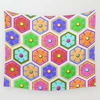 quilt Wall Tapestries featuring SWEET QUILT by Noa Raiter