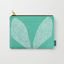 Cicada Wings – Turquoise Carry-All Pouch