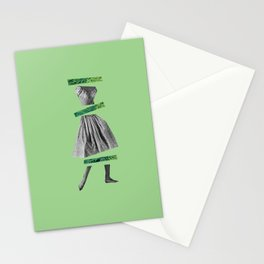 Girly Green Stationery Cards