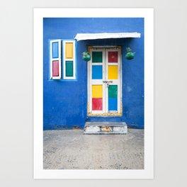 Colorful Indian Door Art Print