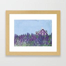 purple Home Framed Art Print