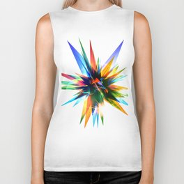 Colorful abstract star Biker Tank