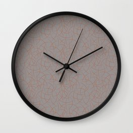Cavern Clay SW 7701 Abstract Crescent Shape Pattern on Slate Violet Gray SW9155 Wall Clock
