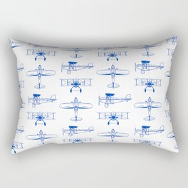 Blue Biplanes Rectangular Pillow