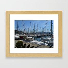 Netsel Yacht Marina Marmaris Turkey Framed Art Print