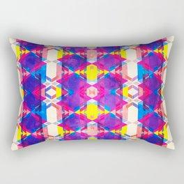 Blue Abstract Diamonate Rectangular Pillow