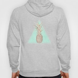 Golden and mint pineapples pattern Hoody