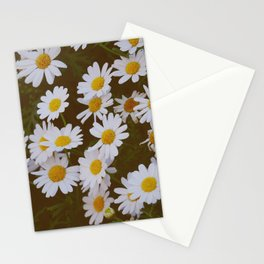 You loved me and you loved me not - White Daisies  Stationery Cards