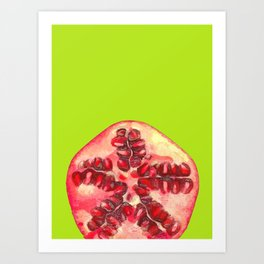 Pomegranate Tropical Fruit Art Print