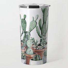 Potted Cacti + Succulents Rose Gold Travel Mug