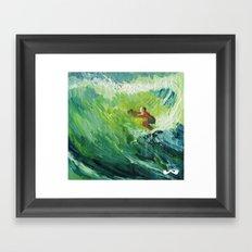 Costa Rica Surf. Framed Art Print