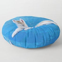 Siberian Husky Puppy Floor Pillow