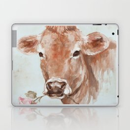 Cow with Rose by Debi Coules Laptop & iPad Skin