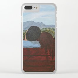 Love in the Mountains Clear iPhone Case