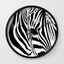 Zebra-Black and White Wall Clock