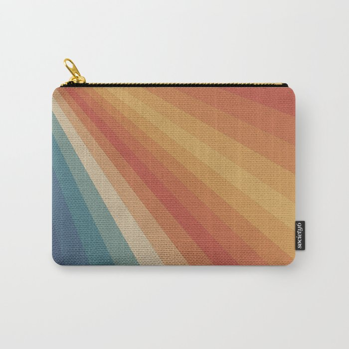 Retro 70s Sunrays Carry-All Pouch