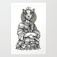 The Cat Queen Art Print
