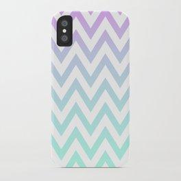 Purple & Teal Chevron Fade iPhone Case