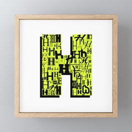 Letter H Framed Mini Art Print