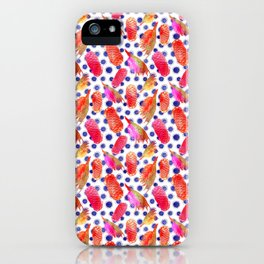 Bright Australian native floral print - grevillea and beehive ginger iPhone Case